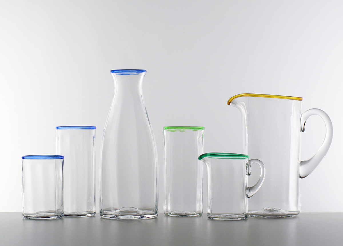 LMG Optic carafe, tumblers, jug and creamer