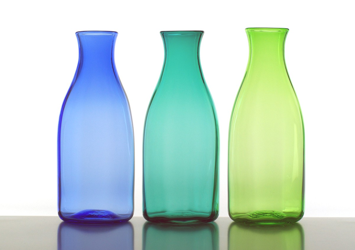 Lindean Mill Glass, 5c, Colour carafe/decanter (26cm)