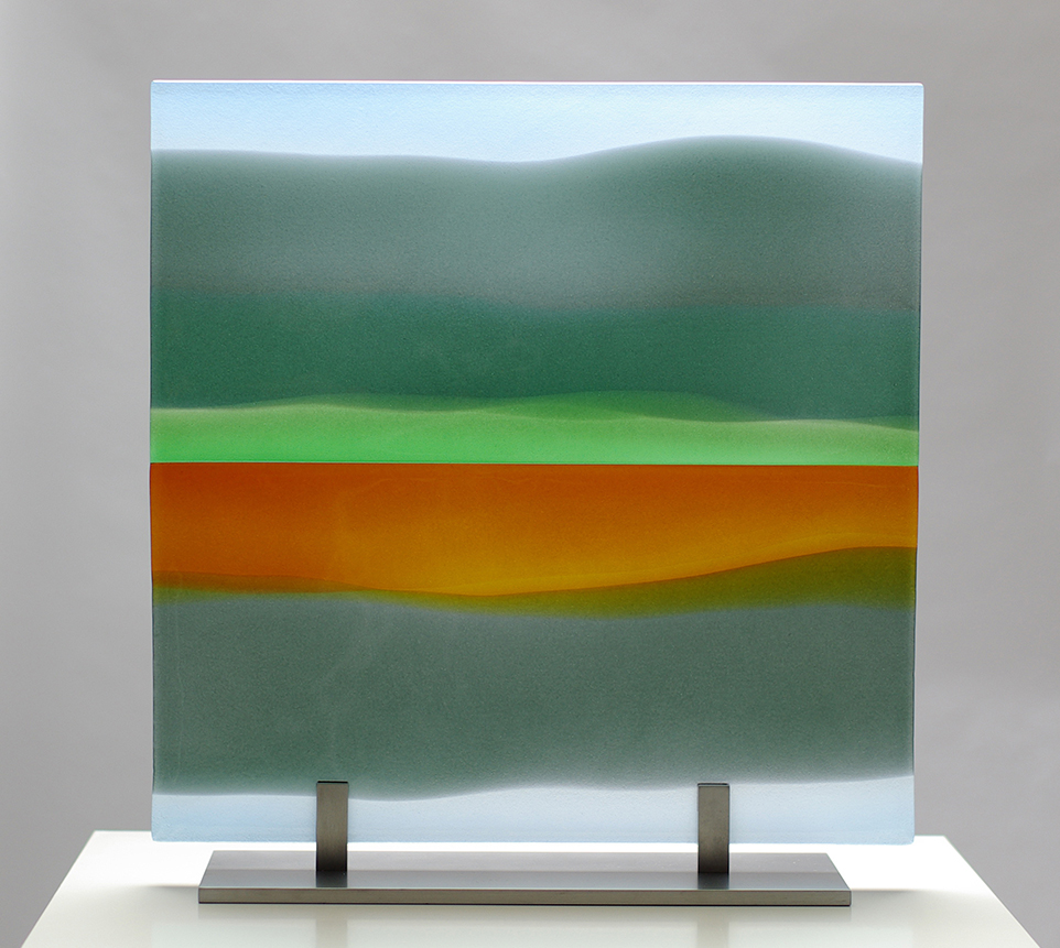 LMG Gallery: Commissions, Glass panel, Reflected Landscape 1, Private commission