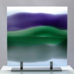 LMG Gallery: Commissions, Glass panel, Reflected Landscape 2, Private commission