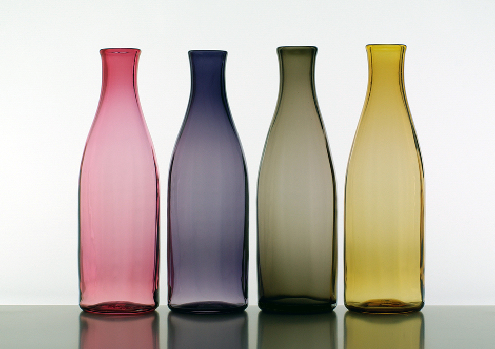 Lindean Mill Glass, 5f, Small colour carafe/bottle (26cm)